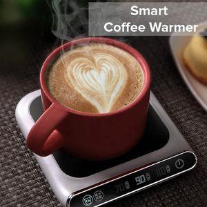 5v Kupası Isıtıcı Akıllı Termostatik Sıcak Çay Makineleri 3 Dişli Usb Şarj Isıtma Coaster Masaüstü Isıtıcı İçin Kahve Süt Çay Isıtıcı Pad