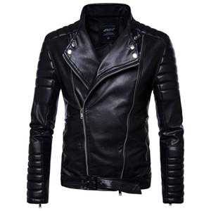 2018 [Code] Avrupa Dış Ticaret Erkekler'S Lokomotif Deri ceket Moda Carrie Motosiklet Deri Ceket Coat M-5XL B012 Wear