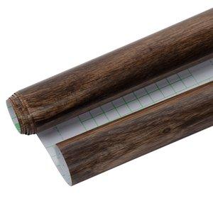 Papel SUNICE autoadesivo mobiliário decorativo Veio de Madeira Decoração Film / Waterproof Renovação Tabela Cadeira armário de cozinha