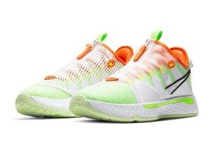 Размер Paul George PG 4 IV PG 4 Gatorade Белый Мужские ботинки баскетбола PG4 спорта кроссовки с коробкой магазин Бесплатная доставка 40-46