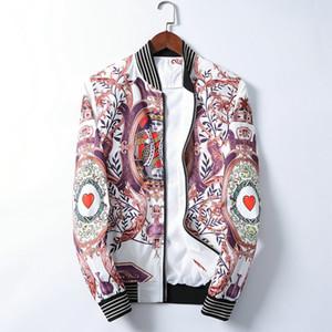 Men's crime designer jacket, bomber jacket, tracksuit, New Year's Fall casual jacket, clothing zip collar, Bomber flower slim jacket#W01