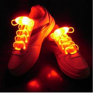Luminous shoelaces LED fluorescent lazy shoelaces night safety children like shoelaces