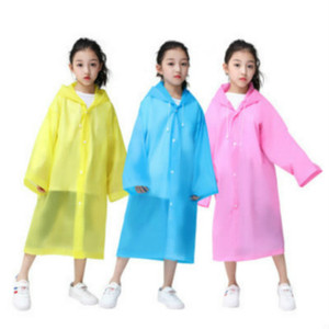 Child Rain Gear Children Isolation Protective Splash 2020 Explosion Solid Color Rain Coat Boys Girls Outdoor Protective Clothing Top Quality