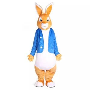 피터 래빗 마스코트 의상 Cartoon Appearl 크리스마스 할로윈 생일 Unisex Mascots Suit 성인용 멋진 드레스