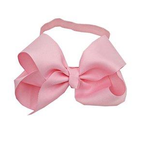 20 Sätze von Schmuck Geschenke Bänder Bogen rosa Haarband Baby-Kinder Nylon Soft-Haar-Zusatz-Stirnband diadema mujer