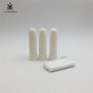 200sets Aroma Blank Nazal inhaler Nazal inhaler Tüp, Yüksek kaliteli Pamuk Wicks ile Nazal inhaler Konteyner