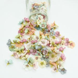 1000pcs 2.5cm Mini İpek Daisy Çok renkli Home Decor için Sahte Çiçek Başkanı Scrapbooking Diy Noel Garland ucuz Yapay Çiçekler