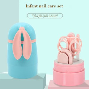 5Pcs Newborn Baby Healthcare Kits Baby Nail Care Set Infant Nail Clippers Care Set with Rabbit Storage Box for Baby Care Tools