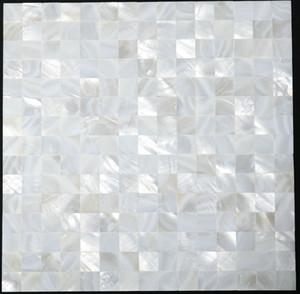 20x20 мм Безрассудный Белый перламутровый кафель раковина мозаика Backsplash бесшовные перламутровый плитка для ванной комнаты MOP006