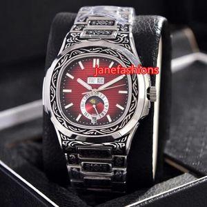 Relojes de pulsera para hombre tallados en plata rostro multiestrés boutique de moda reloj de mayor venta mecánico popular reloj popular envío gratis