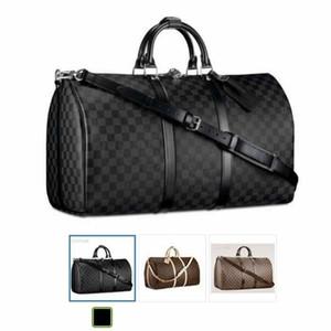 66LVLOUISVUITTONBorse degli uomini del cuoio sacchetto dei bagagli Duffle Bag per le donne Borse a tracolla Tote di viaggio Keepall N41350V