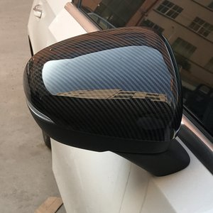 Car Styling Rearview Mirror Cover Decoration Stickers Carbon Fiber Color For Mercedes Benz CLA C118 A Class W177 2019 2020