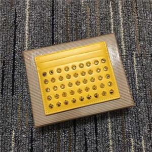 Черный кожаный бумажник коровы в Европе и Америке красный край сине-фиолетовый триколор ногтей Ногти жемчужина карты сумка мужчины и женщины визитная карточка пакет
