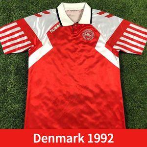 Dinamarca Retro Soccer Jerseys 1992 1998 Dinamarca Hogar Alew Heeintze B.laudrup M.laudrup 92 98 Camisa de Fútbol