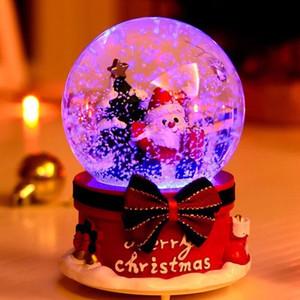 Musica regalo della sfera di cristallo della novità del regalo di Natale Music Box con la luce del fiocco di neve Santa Snowman Xmas Tree festa nuziale di compleanno Box DBC VT1226