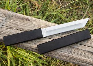 Продается! Катана нож D2 Tanto точка сатин лезвия Ebony Ручка фиксированным лезвием Ножи с деревом Оболочка подарка ножа