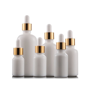 Weißes Porzellan Ätherisches Öl Flaschen Parfüm e-Flüssigkeit Flaschen Reagenz Pipette Dropper Aromatherapie Flasche 5ml-100ml der freie Großhandel DHL