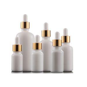 Branco Porcelana óleo essencial de garrafas de perfume e Garrafas líquidos Reagente Pipeta Dropper Aromaterapia garrafa DHL livre Atacado 5ml-100ml