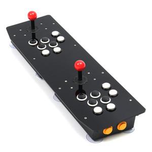 Arcade Game Controller dupla preto do jogador Joystick duplo Painel Push Button USB para PC