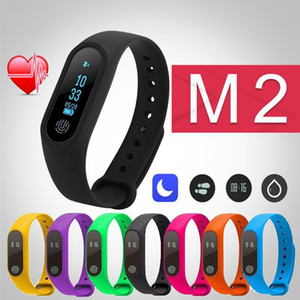 Inteligente del reloj de Bluetooth Oxígeno Presión M2 inteligente muñeca banda de frecuencia cardíaca de la sangre del oxímetro pulsera de deporte banda para iOS Android