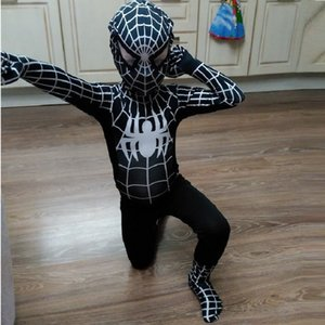 Meninos Meninas Spiderman Disfraz Traje de Halloween Para Crianças Spider Man Homecoming Traje Máscara Incrível Terno Cosplay Crianças