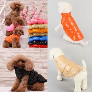 Impermeabile Pet Dog vestiti caldi di inverno Top imbottito Coat Pet Vest Jacket M-2XL Hot New Pet Dog vestiti caldi di inverno della maglia della peluche