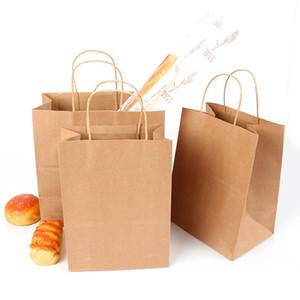 Brown Papel Kraft Bolsa de regalo de papel con asas asas de los bolsos de compras reciclado mate bolsas para regalos de boda