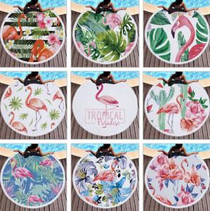 Flamingo Beach Towel Quaste Stranddecken Wandbehang Tapisserie gedruckte Frauen-Schal-Picknick-Teppiche Yoga-Matte 33 Arten Wholesale LQP-YW2748