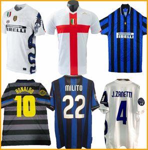 2007 08 terceiro futebol retro entre jerseys FIGO IBRAHIMOVIC Materazzi 97 camisa clássica J.Zanetti ADRIANO VIEIRA BALOTELLI vintage jerse 98 99