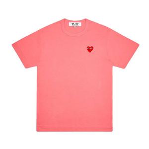 2020 a melhor qualidade Comme des Garçons JOGAR CDG Emoji coração camiseta de manga curta T-shirt curto Tee Des Garçons T-shirt C050 vermelho alaranjado