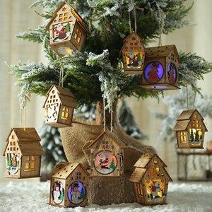 Cabine avec lumières de Noël Pendant Creative décorations de noël Décoration de Noël Diy Petite maison