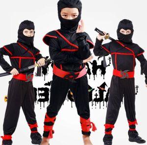 Costumi per bambini ragazzi Ninjago costume Purim Halloween Party Cosplay Uomini Warrior Stealth bambini assassino Ninja Costume