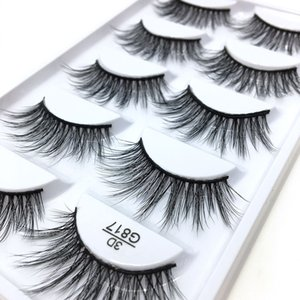 3D Stereotypes False Eyelashes Five-Pack Natural Thick False Eyelashes G817 Hand-Made False Eyelashes Artificial Wholesale