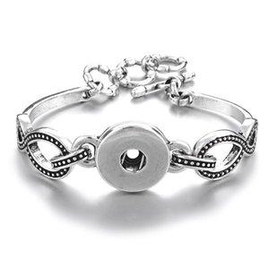NOOSA Druckknopf-Armband-Armband Austauschbare Ingwerkeks Infinity-Charme-Armbänder Handgelenk 18mm Knopf Statement-Schmuck DIY Zubehör