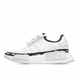 New Plateau NMD R1 V2 Runner promotion shoes Gold knit air cushion breathable woven mesh running shoes OG three black and white