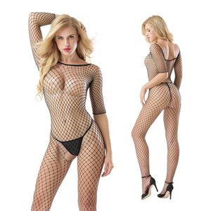 2019 Euro-Americano Explosivo Sexy Body-Shaping Suit manga comprida Bodywear Net Roupa interior Linked Sexy Underwear Interessante 7016
