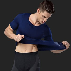 2019 Men Slimming Body Shaper Shapewear Male Compression T-Shirt Men Body Shapers Waist Trainer Undershirt