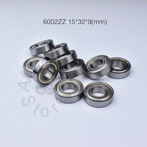 6002ZZ rolamento rolamentos de vedação de metal Frete grátis 6002 6002Z 6002ZZ 15 * 32 * 9mm (10 pcs / tubo) rolamento de sulco profundo de aço cromado