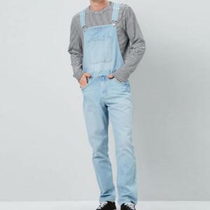 Erkekler artı boyutu Büyük boy büyük kot önlük pantolon Moda cebi jumpsuits Erkek Ücretsiz nakliye erkekleri overalls