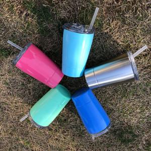 12OZ الاطفال كأس مع اغطية الفولاذ المقاوم للصدأ معزول أكواب أطفال الطلاب طبقة مزدوجة الحرارية معزول الكؤوس المياه