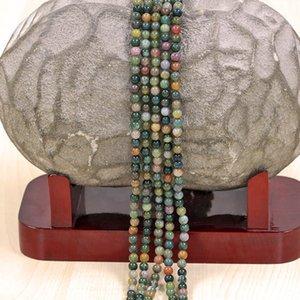 М Индия Агат бусины, свободные полудрагоценный камень бусины бусины аксессуары, подходит для изготовления браслета, DIY ювелирные изделия размер: 8 мм