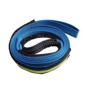 Synthetic Winch Rope Cable 5cm 3 .0m 17637lbs With U -Shaped Hook ,Blue