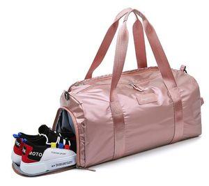 Training Gym Bags Fitness Travel Outdoor Sports Bag Women Men Handbags Luggage Shoulder Dry Wet Duffle Bag Shoes Bags Lady Yoga Tote XWS327