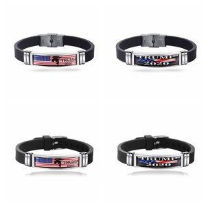 US Donald Trump Bracelet Keep America Grande 2020 Bracelet En Acier Inoxydable En Silicone USA Supporters Bracelet 4 5xm E1
