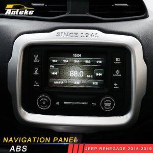 Обложка Jeep Renegade украшения 2015 2017 2018 2019 Наклейка GPS Навигационная панель для обшивки автомобиля Рамка 2016 Аксессуары для интерьера Bdpki