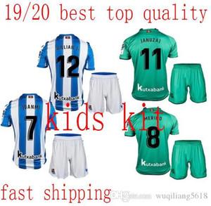 mejores niños kit 19/20 Real Sociedad AGIRRETXE CARLOS camiseta de fútbol Real Sociedad niño camisetas de X.PRIETO JUANMI encargo de la Real Sociedad
