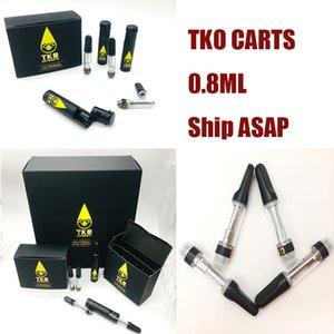 TKO Vapes Cartridges Packaging Vape Pen Thick Oil Carts Ceramic Coil 510 oil Atomizer Instock 0.8 ml Glass Tank E cigarettes Oil Vaporizer