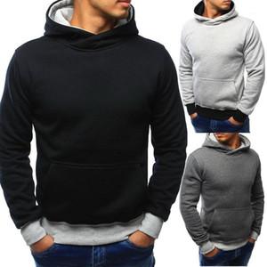 Bahar Renk Patchwork Mens Tasarımcısı Hoodies Casual Temel Stil Tops Uzun Kol Kapşonlu Sweatshirt Kapüşonlular Mens