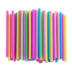 Assorted Bright Colors Jumbo Smoothie Straws, Pack of 100 Pieces