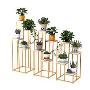4-Reifen-Blumen-Metallständer Nordic Eisen Pflanze Stehen Gold Schwarz Blumen-Qualitäts-Shop-Pflanzen stehen Hochzeit Blumendekoration